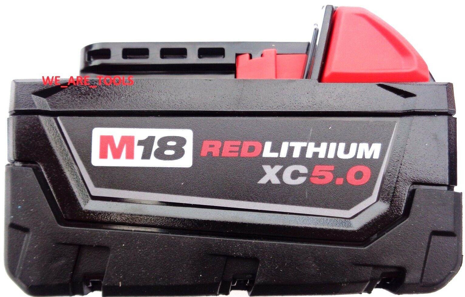 (1) GENUINE 18V Milwaukee 48-11-1850 5.0 AH Battery M18 18 Volt XC 5.0 Red