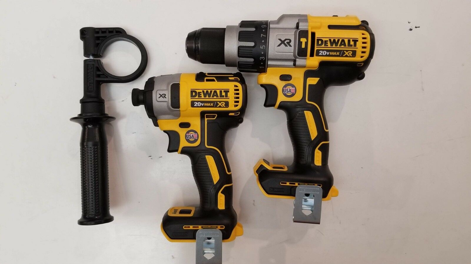 DEWALT 20V 20 Volt XR DCD996B Hammer Drill & DCF887B Impact Brushless Combo NEW