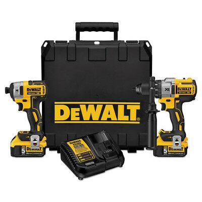 DEWALT 20V MAX XR Li-Ion Hammer Drill & Impact Driver Combo Kit DCK299P2 New