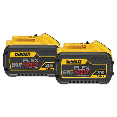 DEWALT DCB6092 20V/60V MAX FLEXVOLT 9 Ah Li-Ion Battery (2-Pc) New