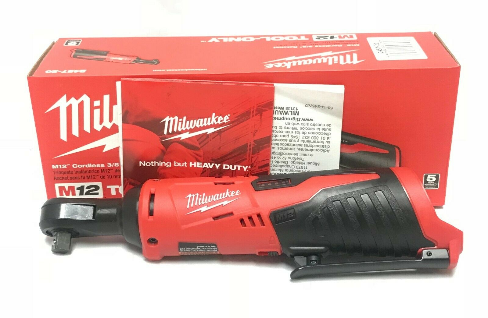 Milwaukee 2457-20 M12 12-Volt 3/8-Inch Ratchet – Bare Tool