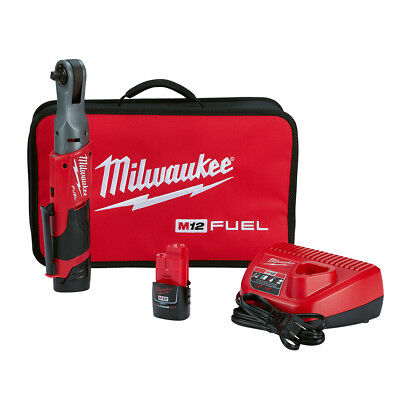 Milwaukee 2557-22 M12 FUEL 3/8″ Ratchet 2 Battery Kit