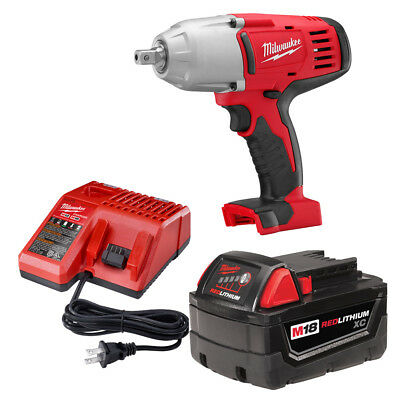 Milwaukee 2662-21 M18 1/2″ High-Torque Impact Wrench With Pin Detent Kit