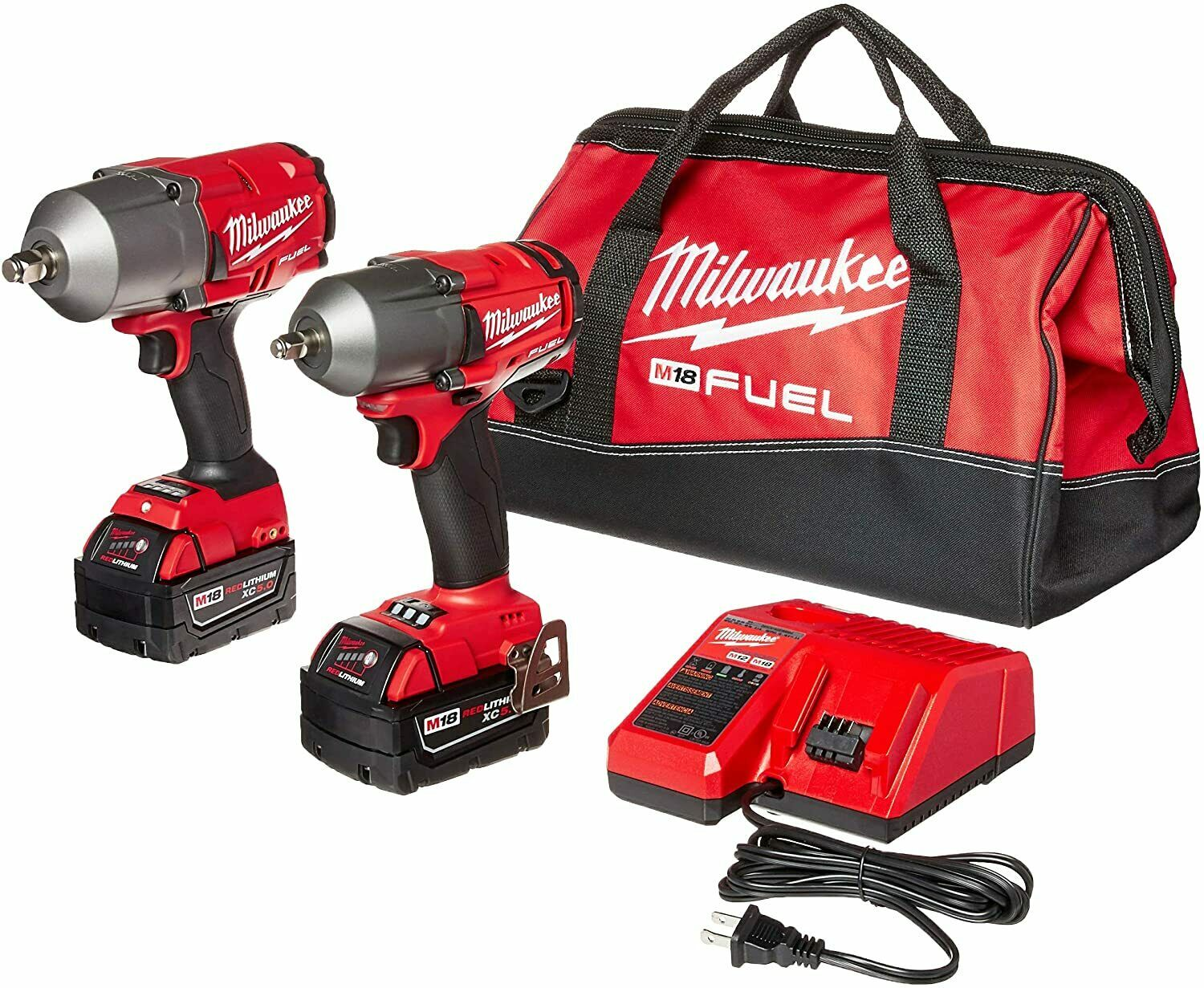 Milwaukee M18 FUEL Kit 1/2″ Impact Wrench & 3/8″ Impact Wrench W/ 2 Batteries