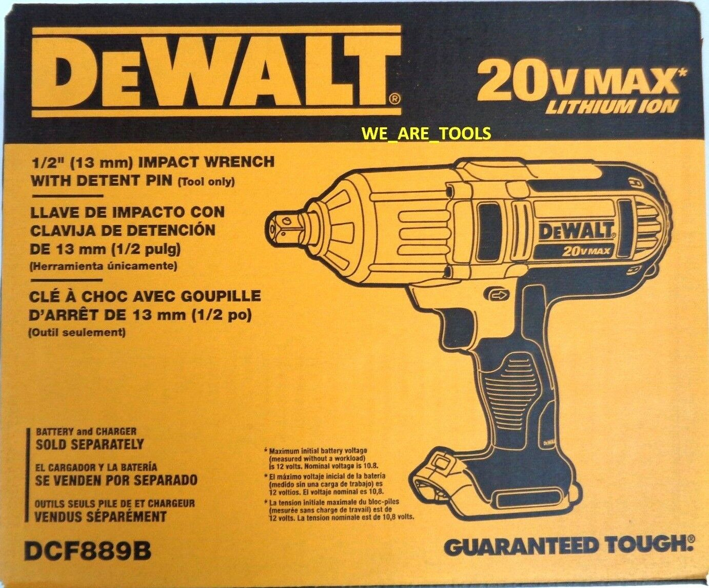 New In Box Dewalt DCF889B 20V 1/2″ Cordless Impact Wrench Pin Detent 20 Volt Max