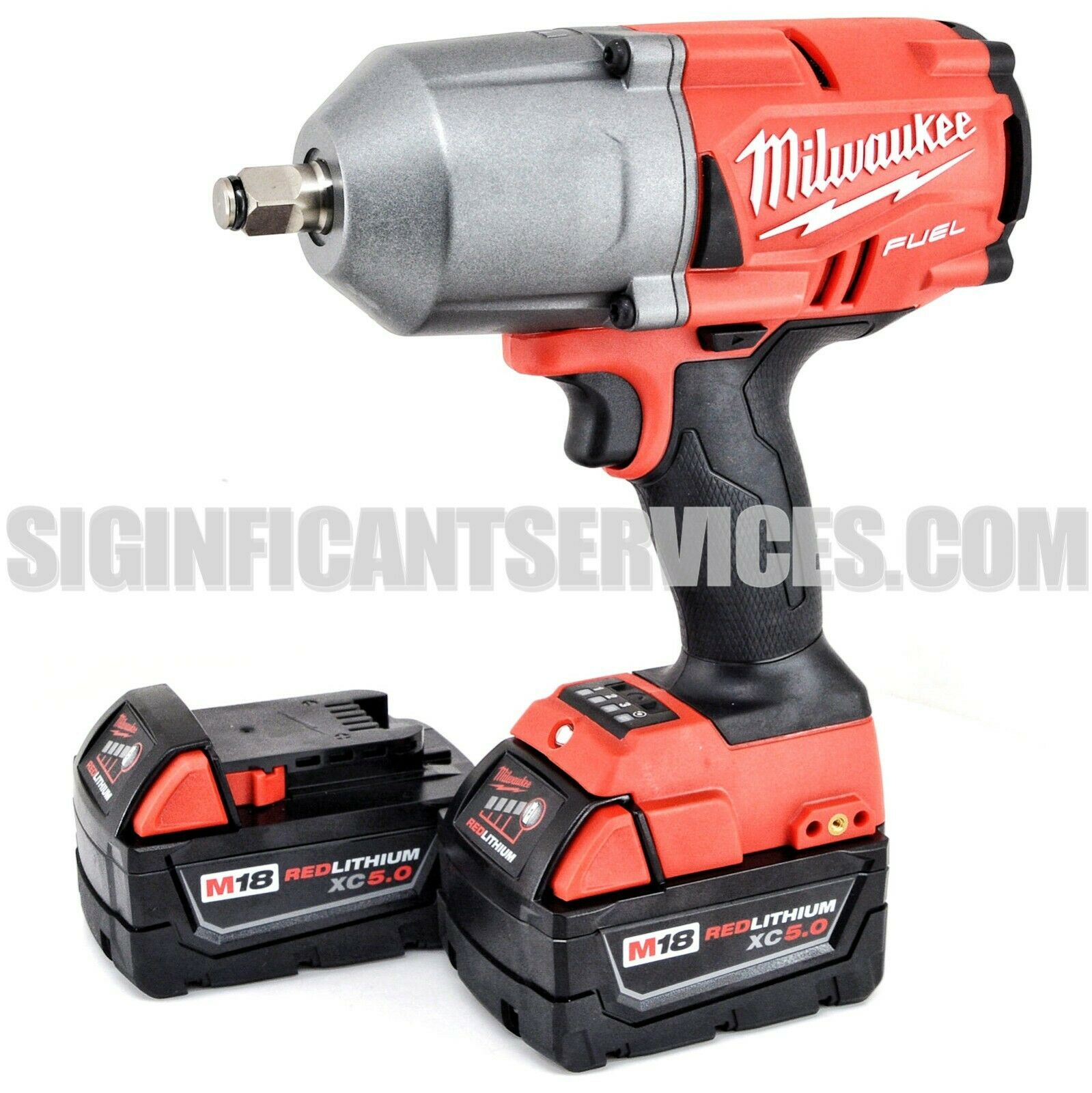 New Milwaukee 2767-20 M18 FUEL 1/2″ High Torque Impact Wrench 5.0 AH Batteries