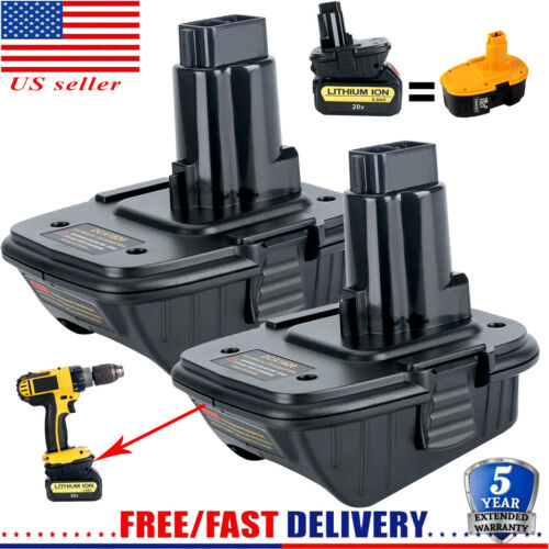 2X For Dewalt DCA1820 18V TO 20V ADAPTER Lithium Convert To Nickel Charger Tools