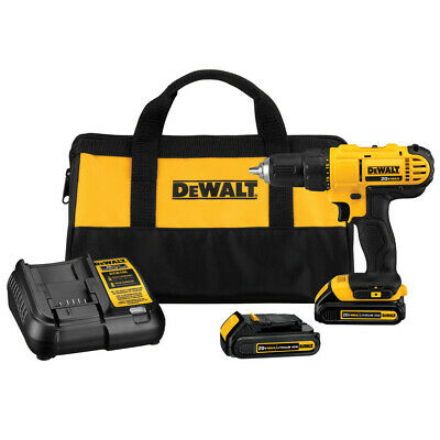 DEWALT 20V MAX Li-Ion 1/2 In. Compact Drill Driver Kit DCD771C2 New
