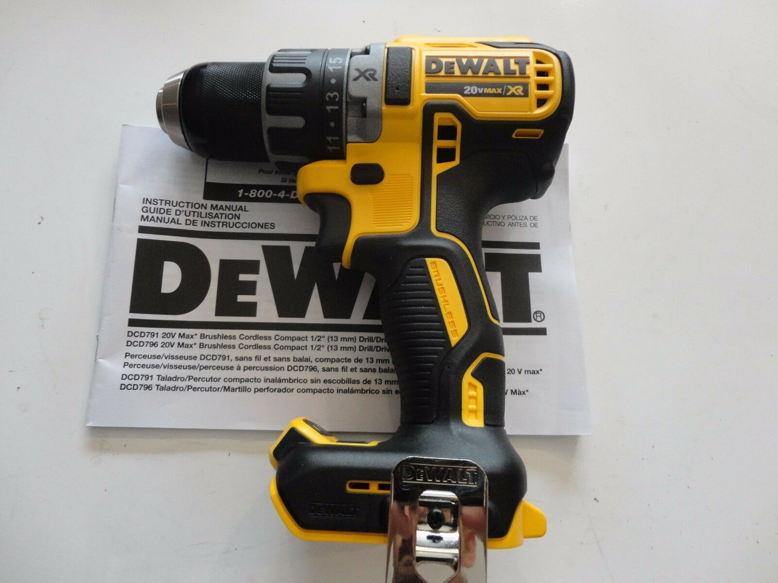 DEWALT DCD791B 20V 20 Volt 2 Speed Brushless 1/2″ Lithium Ion Max Drill Driver